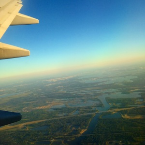 Coming into the Houston airport. SO lush!